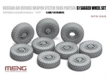 Russian Air Defense Weapon System 96K6 Pantsir-S1 Sagged Wheel Set · MEN SPS068 ·  MENG Models · 1:35