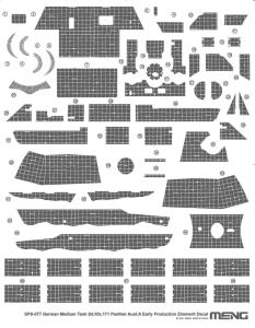 Zimmerit Decal - German Medium Tank Sd.Kfz.171 Panther Ausf.A Early Production  · MEN SPS077 ·  MENG Models · 1:35