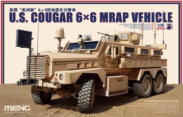 U.S. Cougar 6x6 MRAP Vehicle · MEN SS005 ·  MENG Models · 1:35