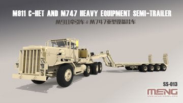 U.S. M911 C-HET(8x6)& M747 Heavy Equipment Semi-Trailer · MEN SS013 ·  MENG Models · 1:35