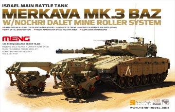 Israel Main Battle Tank Merkava Mk.3 BAZ · MEN TS005 ·  MENG Models · 1:35
