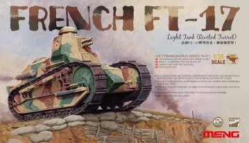 French FT-17 Light Tank (Riveted Turret) · MEN TS011 ·  MENG Models · 1:35