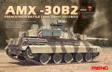 French Main Battle Tank AMX-30B2 · MEN TS013 ·  MENG Models · 1:35