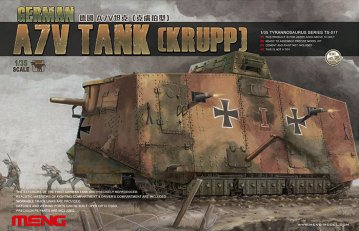 German A7V Tank (Krupp) · MEN TS017 ·  MENG Models · 1:35