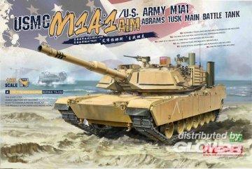 USMC M1A1 AIM/U.S.Army M1A1 Abrams TUSK Main Battle Tank · MEN TS032 ·  MENG Models · 1:35