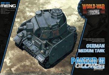 German Medium Tank Panzer III (World War Toons) · MEN WWT005 ·  MENG Models