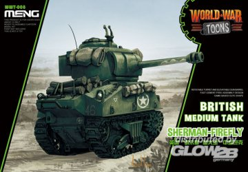 British Medium Tank Sherman-Firefly (Cartoon Model) · MEN WWT008 ·  MENG Models