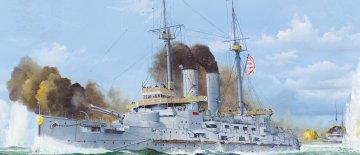 Japanese Battleship Mikasa 1905 · MRT 62004 ·  Merit · 1:200