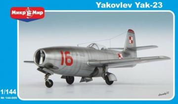 Yakovlev Yak-23 Soviet fighter · MMR 144009 ·  Micro Mir · 1:144