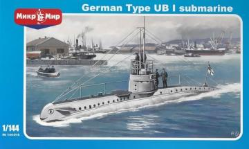 German submarine UB-1 Type · MMR 144016 ·  Micro Mir · 1:144