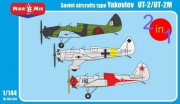 Yakovlev UT-2/UT-2M (2 kits in the box) · MMR 144019 ·  Micro Mir · 1:144
