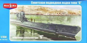WWII Soviet submarine type S · MMR 350002 ·  Micro Mir · 1:350