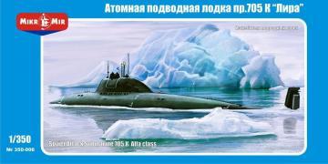 705 K Alfa class Soviet submarine · MMR 350006 ·  Micro Mir · 1:350