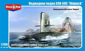 US nuclear-powered submarine Skipjack · MMR 350008 ·  Micro Mir · 1:350