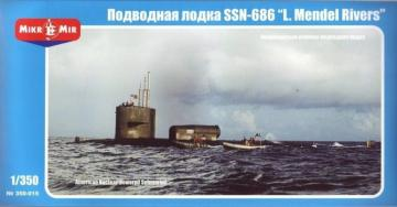 U.S.nuclear-powered submarine SSN-686 MR · MMR 350015 ·  Micro Mir · 1:350