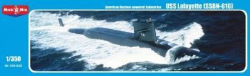 U.S. nuclear-powered submarine Lafayette (SSBN-616) · MMR 350022 ·  Micro Mir · 1:350