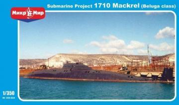 Soviet submarine Projekt 1710 Mackrel (Beluga class) · MMR 350024 ·  Micro Mir · 1:350