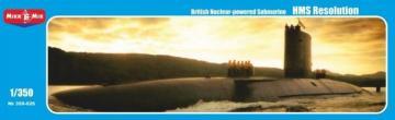 HMS Resolution British nuclear-powered submarine · MMR 350026 ·  Micro Mir · 1:350