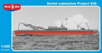 Soviet Submarine Project 628 · MMR 350030 ·  Micro Mir · 1:350