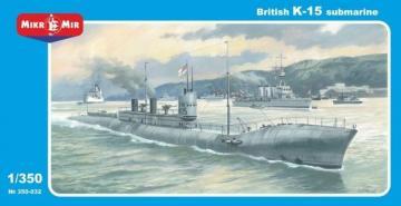 British HMS K-15 Submarine · MMR 350032 ·  Micro Mir · 1:350