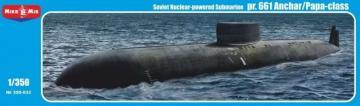 Project 661 Anchar/Papa-class Soviet nuclear-powered submarine · MMR 350033 ·  Micro Mir · 1:350