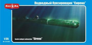 Soviet midget submarine Sirena · MMR 35009 ·  Micro Mir · 1:35