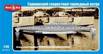 Germann torpedo speedboat Schertel-Sachs · MMR 35011 ·  Micro Mir · 1:35