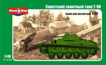 Soviet anti-aircraft tank T-90 · MMR 48008 ·  Micro Mir · 1:48
