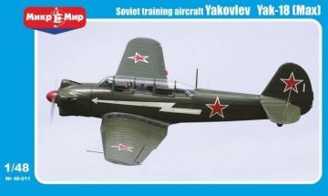 Yakovlev Yak-18(max) Soviet trainer aircraft · MMR 48011 ·  Micro Mir · 1:48
