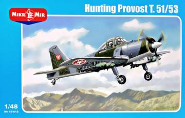 Hunting Provost T.51/53 (armed version) · MMR 48015 ·  Micro Mir · 1:48