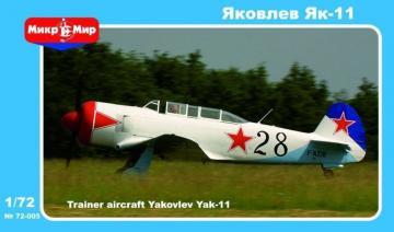 Yakovlev Yak-11 Soviet training aircraft · MMR 72005 ·  Micro Mir · 1:72