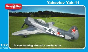 Yakovlev Yak-11 Soviet trainer aircraft · MMR 72007 ·  Micro Mir · 1:72