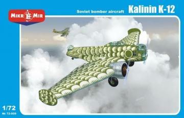 Kalinin K-12 Soviet bomber aircraft · MMR 72009 ·  Micro Mir · 1:72
