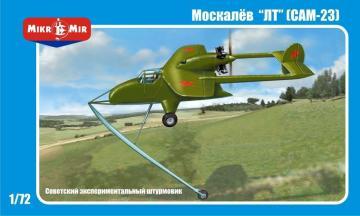 Moskalyev SAM-23 Soviet exper. aircraft · MMR AMP7202 ·  Micro Mir · 1:72