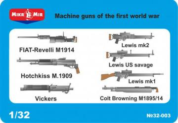 WWI machine guns · MMR MM32003 ·  Micro Mir · 1:32