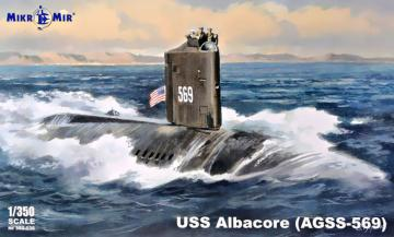 USS Albacore (AGSS-569) submarine · MMR MM350036 ·  Micro Mir · 1:350