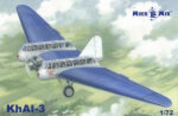 KhAI-3 Soviet civil airplane · MMR MM72014A ·  Micro Mir · 1:72