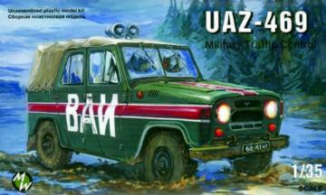 UAZ-469 Military milicia · MW 3503 ·  Military Wheels · 1:35