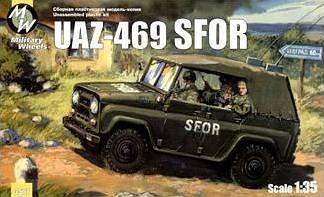 UAZ-469 SFOR · MW 3507 ·  Military Wheels · 1:35