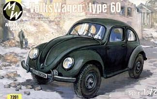 VW type 60 · MW 7201 ·  Military Wheels · 1:72