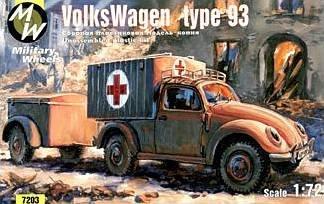 VW type 93 · MW 7203 ·  Military Wheels · 1:72