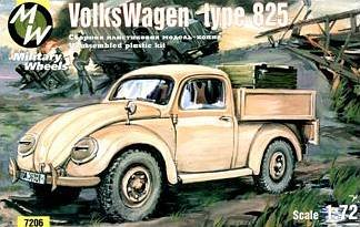 VW type 825 · MW 7206 ·  Military Wheels · 1:72