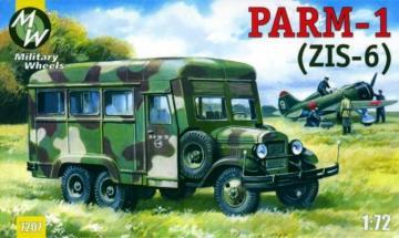 PARM-1 + rubber wheels · MW 7207 ·  Military Wheels · 1:72