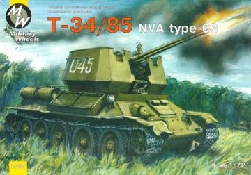T-34/85 type 63 North Vietnam Army · MW 7210 ·  Military Wheels · 1:72