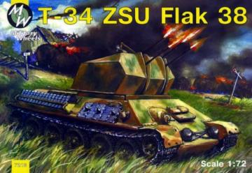 T-34 Flak 38 · MW 7213 ·  Military Wheels · 1:72