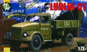 Lublin 51 on the GAZ-51 · MW 7216 ·  Military Wheels · 1:72