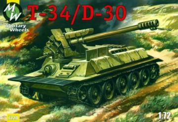 T-34/D-30 · MW 7220 ·  Military Wheels · 1:72