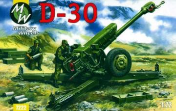 D-30 122 mm · MW 7222 ·  Military Wheels · 1:72