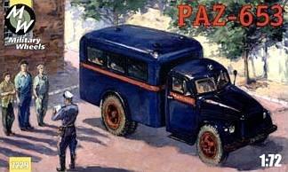 PAZ-653 on the GAZ-51 · MW 7229 ·  Military Wheels · 1:72