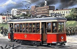 Tram-car Kh · MW 7230 ·  Military Wheels · 1:72